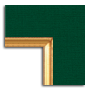 Green Linen / Gold Fillet
