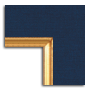 Navy Linen / Gold Fillet