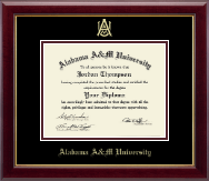 Alabama A & M University Diploma Frame - Gold Embossed Diploma Frame in Gallery