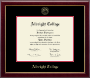 Albright College Diploma Frame - Gold Embossed Diploma Frame in Gallery