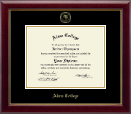 Alma College Diploma Frame - Gold Embossed Diploma Frame in Gallery