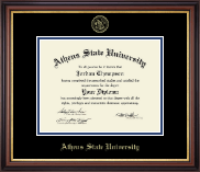 Athens State University Diploma Frame - Gold Embossed Diploma Frame in Regency Gold