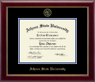 Athens State University Diploma Frame - Gold Embossed Diploma Frame in Gallery