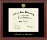 Athens State University Diploma Frame - 23K Medallion Diploma Frame in Signature