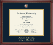 Auburn University Diploma Frame - Masterpiece Medallion Diploma Frame in Kensington Gold