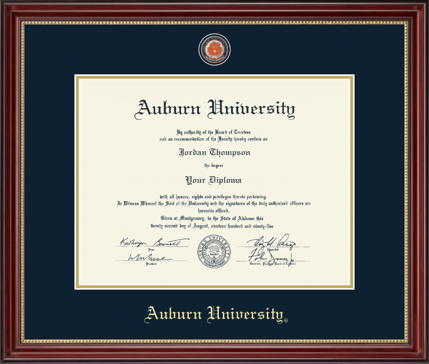auburn university diploma frame masterpiece medallion diploma frame in kensington gold