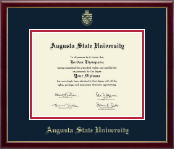 Augusta State University Diploma Frame - Gold Embossed Diploma Frame in Galleria