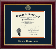 Baker University Diploma Frame - Gold Embossed Diploma Frame in Gallery