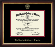 Baptist College of Florida Diploma Frame - Gold Embossed Diploma Frame in Regency Gold