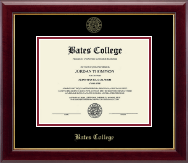 Bates College Diploma Frame - Gold Embossed Diploma Frame in Gallery