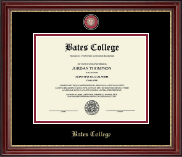 Bates College Diploma Frame - Masterpiece Medallion Diploma Frame in Kensington Gold