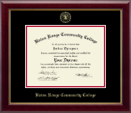 Baton Rouge Community College Diploma Frame - Gold Embossed Diploma Frame in Gallery