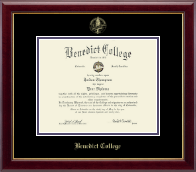 Benedict College Diploma Frame - Gold Embossed Diploma Frame in Gallery