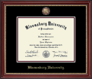 Bloomsburg University Diploma Frame - Masterpiece Medallion Diploma Frame in Kensington Gold