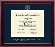 Brigham Young University Idaho Diploma Frame - Gold Embossed Diploma Frame in Gallery