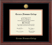 Carson-Newman College Diploma Frame - 23K Medallion Diploma Frame in Signature