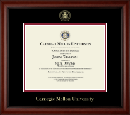 Carnegie Mellon University Diploma Frame - Gold Embossed Diploma Frame in Cambridge