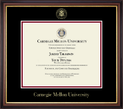 Carnegie Mellon University Diploma Frame - Gold Embossed Diploma Frame in Regency Gold