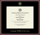 Carnegie Mellon University Diploma Frame - Gold Embossed Diploma Frame in Kensit Gold