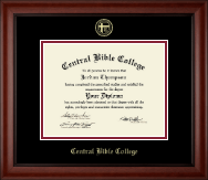 Central Bible College Diploma Frame - Gold Embossed Diploma Frame in Cambridge