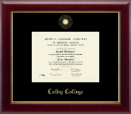 Colby College Diploma Frame - Gold Embossed Diploma Frame in Gallery