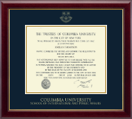 Columbia University Diploma Frame - Gold Embossed Diploma Frame in Gallery