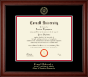 Cornell University Diploma Frame - Gold Embossed Diploma Frame in Cambridge