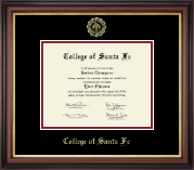 College of Santa Fe Diploma Frame - Gold Embossed Diploma Frame in Regency Gold