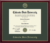 Colorado State University Diploma Frame - Gold Embossed Diploma Frame in Galleria