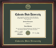 Colorado State University Diploma Frame - Gold Embossed Diploma Frame in Regency Gold