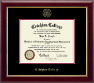 Crichton College Diploma Frame - Gold Embossed Diploma Frame in Gallery