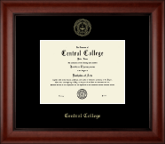 Central College Diploma Frame - Gold Embossed Diploma Frame in Cambridge