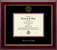 Central College Diploma Frame - Gold Embossed Diploma Frame in Gallery