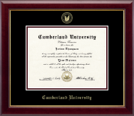 Cumberland University Diploma Frame - Gold Embossed Diploma Frame in Gallery