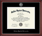 Dallas Baptist University Diploma Frame - Masterpiece Medallion Diploma Frame in Kensington Silver