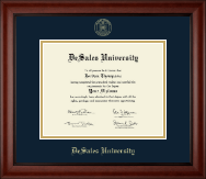 DeSales University Diploma Frame - Gold Embossed Diploma Frame in Cambridge