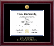 Duke University Diploma Frame - 23K Medallion Diploma Frame in Gallery