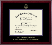 East Carolina University Diploma Frame - Gold Embossed Diploma Frame in Gallery