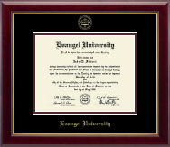 Evangel University Diploma Frame - Gold Embossed Diploma Frame in Gallery