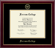 Ferrum College Diploma Frame - Gold Embossed Diploma Frame in Gallery