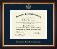 Georgian Court University Diploma Frame - Gold Embossed Diploma Frame in Regency Gold