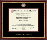 Harvard University Diploma Frame - Masterpiece Medallion Diploma Frame in Kensington Gold