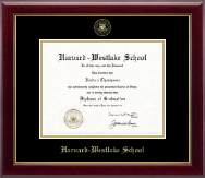 Harvard-Westlake School Diploma Frame - Gold Embossed Diploma Frame in Gallery