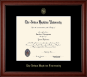 Johns Hopkins University Diploma Frame - Gold Embossed Diploma Frame in Cambridge