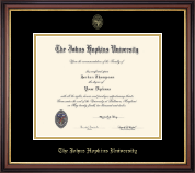 Johns Hopkins University Diploma Frame - Gold Embossed Diploma Frame in Regency Gold