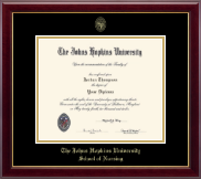 Johns Hopkins University Diploma Frame - Gold Embossed Diploma Frame in Gallery