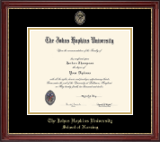 Johns Hopkins University Diploma Frame - Masterpiece Medallion Diploma Frame in Kensington Gold