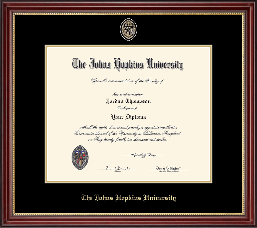 Johns Hopkins University Masterpiece Medallion Diploma Frame in ...