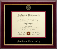 Indiana University South Bend Diploma Frame - Gold Embossed Diploma Frame in Gallery