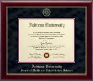 Indiana University - Purdue University Columbus Diploma Frame - Gold Embossed Diploma Frame in Gallery